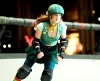 Drew Barrymore photos from the new film Whip It in her roller skates