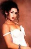 Haifa Wehbe old picture before becoming a singer and before plastic surgery in a white dress