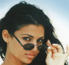 Haifa Wehbe old picture before becoming a singer and before plastic surgery face photo wearing dark sungalsses