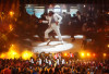 Michael Jackson on the video screen at the 2009 MTV Video Music Awards at Radio City Music Hall on September 13, 2009 in New York City