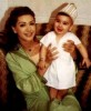 Nawal Zoghbi with her baby daughter
