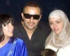 Picture of Egyptian actor Ahmed Al Sakka with his wife Maha and actress Mona Zaki