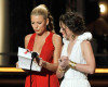 Leighton Meester and Blake Lively present the Outstanding Directing In A Comedy Series award at the 61st Primetime Emmy Awards