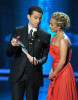 Jon Cryer and Hayden Panettiere present the Outstanding Host For A Reality Or Reality Competition Program award onstage during the 61st Primetime Emmy Awards 4