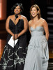 Kate Walsh and Chandra Wilson present the Outstanding Lead Actress In A Miniseries Or A Movie award onstage during the 61st Emmy Awards