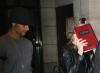 Jesus Luz picture with his girlfriend Madonna as she hides her face with a copy of the book Zohar to avoid the flashes of paparazzis cameras on september 22nd 2009 in New York 4