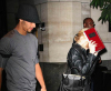 Jesus Luz picture with his girlfriend Madonna as she hides her face with a copy of the book Zohar to avoid the flashes of paparazzis cameras on september 22nd 2009 in New York 1