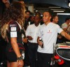 Beyonce Knowles with Lewis Hamilton at the Singapore Auto Racing F1 GP event on September 26th 2009 12