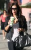 Kim Kardashian spotted walking the streets with a milkshake cup in West Hollywood on September 26th 2009 6