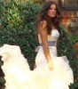 picture of the bride Khloe Kardashian wearing her wedding dress designed by Vera Wang