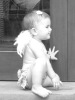 Alessandra Ambrosio picture of her daughter Anja wearing two tiny cute angel wings