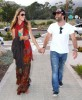 Alessandra Ambrosio walking with her current boyfriend hand in hand