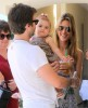 Alessandra Ambrosio with her baby daughter Anja and her boyfriend