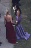 Kim Kardashian spotted at the wedding receptiopn of her sister Khloe wearing a backless purple dress as the bridesmaid at the brides residence in Beverly Hills on September 27th 2009 9
