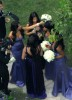 Kim Kardashian spotted at the wedding receptiopn of her sister Khloe wearing a backless purple dress as the bridesmaid at the brides residence in Beverly Hills on September 27th 2009 3