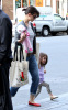 Katie Holmes and her daughter Suri Cruise were spotted out for shopping at the DeLucas Market in Boston on September 29th 2009