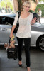 Katharine McPhee spotted arriving at Hollywood Rossevelt Hotel with a new short hair cut on September 2nd 2009 2