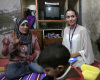 picture of UN Ambassador Angelina Jolie during her visit to Syria to check on Iraqi refugees on October 2nd 2009 1