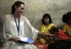 picture of UN Ambassador Angelina Jolie during her visit to Syria to check on Iraqi refugees on October 2nd 2009 11