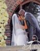 Khloe Kardashian and Lamar Odom kissing at their wedding