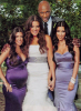 Khloe Kardashian and Lamar Odom photo during their wedding with the bridemaids Kim and Kourtney Kardashian