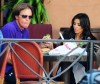 Kim Kardashian spotted eating lunch with Bruce Jenner in Santa Monica on October 9th 2009 2