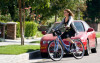 Haylie Duff picture as she goes for a bike ride around the Toluca Lake neighborhood on October 8th 2009 3