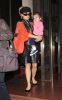 Salma Hayek spotted leaving her New York City hotel on October 9th 2009 with her little girl Valentina 1