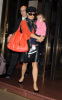 Salma Hayek spotted leaving her New York City hotel on October 9th 2009 with her little girl Valentina 3
