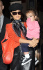 Salma Hayek spotted leaving her New York City hotel on October 9th 2009 with her little girl Valentina 4