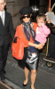 Salma Hayek spotted leaving her New York City hotel on October 9th 2009 with her little girl Valentina 2