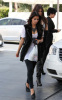 Kim Kardashian and her sister Khloe were spotted leaving a gas station in Calabasas on October 9th 2009 4