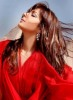 Asala Nasri new photo shoots for her campaign in a red elegant dress 3