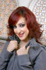 Basma Boussiel new look picture with her red hair color 2