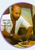 Mohamad Qwaider picture while cooking beef and french fries during a magazine interview in Ramadan 2009 6