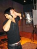 Nader Quirat photo while recording a new song in the studio of Beirut Lebanon 1