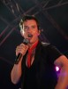 Boyzone band member Stephen Gately singing at the Annual ceremony as the Blackpool lights are officially turned on in England on August 29th 2008