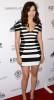 Sophia Bush wearing a striped black and white dress as she arrives at the The Art of Elysium Genesis celebration at HD Buttercup on October 10th 2009 in Los Angeles 4