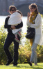 Tom Cruise and Katie Holmes with their daughter Suri at a park in Cambridge Massachusetts on October 10th 2009 8