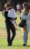 Tom Cruise and Katie Holmes with their daughter Suri at a park in Cambridge Massachusetts on October 10th 2009 9