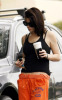 Ashley Greene was spotted getting out of her car with a paper coffee cup in Los Angeles on October 12th 2009 2
