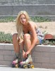 Sophie Monk spotted roller Skating at the Beach in Los Angeles on October 12th 2009 4