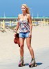 Sophie Monk spotted roller Skating at the Beach in Los Angeles on October 12th 2009 1