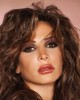 Lebanese singer Nelly Maqdesy photo at a studio session with a red atmosphere face picture