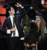 Gabe Saporta of Cobra Starship and Paulina Rubio perform at the MTV 2009 Latin America Awards