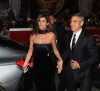 George Clooney and his girlfriend Elisabetta Canalis at the screening of his new movie Up in the Air held at the Auditorium Parco della Musica on October 17th at the Rome Film Festival in Italy 2