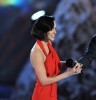 Megan Fox accepts the Best Sci Fi Actress award onstage during Spike TVs 2009 Scream Awards held at the Greek Theatre on October 17th 2009 in Los Angeles 4