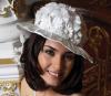 Tuba Buyukustun modeling studio photo shoots wearing a wedding dress 1