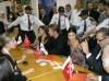 Tuba Buyukustun picture at a press conference with Kivanc Tatlitug and Songul Oden in Dubai 1
