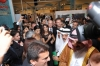 Tuba Buyukustun picture at a press conference with Kivanc Tatlitug and Songul Oden in Dubai 2